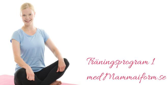 mammaträningsprogram att börja med