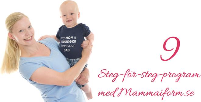 steg för steg mammaträning