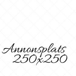 Annonsplats 250x250