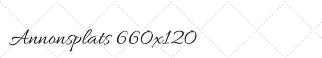 Annonsplats 660x120