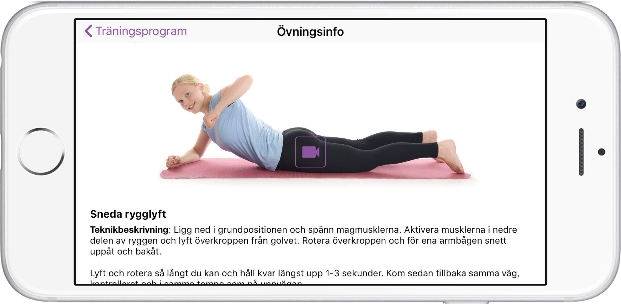 App mammaträning enkla övningar